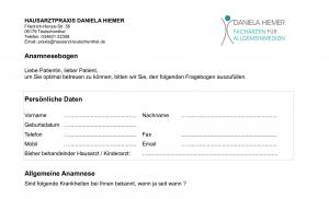 Anamnesebogen Hausarzt Teutschenthal